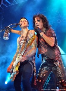Bassist Chuck Garric With Alice Cooper