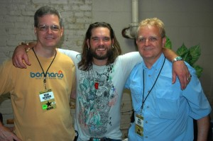 Bo Bice backstage with Brian and Mike