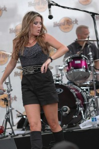 Chelsea Field Performs at Hard Rock Stage