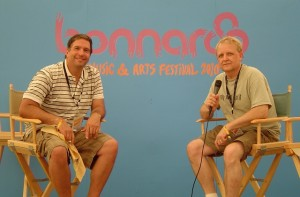 Bonnaroo 2010 - Tom and Mike on the Bonnaroo Media Stage
