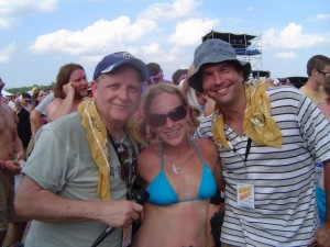 Bonnaroo 2010 - Mike and Tom pose with a Concert Blast Fan