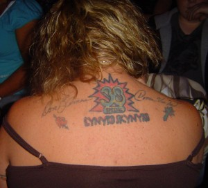 38 Special Fan with Tatoos