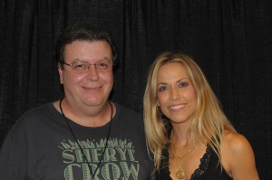 Sheryl Crow with James Downing - Backstage before her Nashville, TN concert