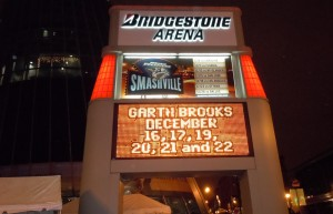 Garth Brooks In Concert - Bridgestone Arena Sign