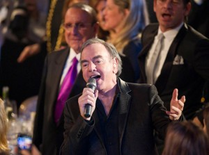 Rock Hall Inductee Neil Diamond Performs