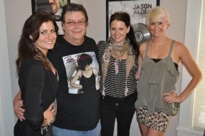 The McClymonts with James Downing