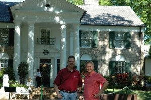 Brian Hasbrook and Mike Arnold at Elvis Presley's Home - Graceland
