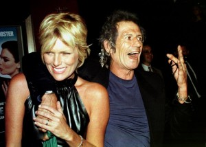 Keith Richards with his wife, Patti Hansen