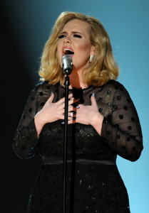 Adele Perfoming on the Grammys