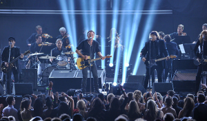Bruce Springsteen and the E Street Band open the 54th Grammys Awards Show