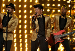Bruno Mars Performing on the Grammys