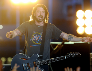 Dave Grohl of Foo Fighters Performing on the Grammys