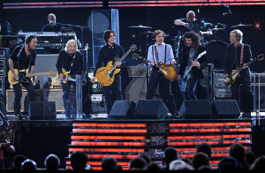 Paul McCartney and Band Performing with  Bruce Springsteen, Joe Walsh, and Dave Grohl to close out the 54th Grammys Awards Show