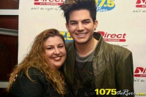 Christina Williams with Adam Lambert - 107.5 The River - Nashville, TN