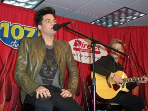 Adam Lambert Performs Acoustic - 107.5 The River - Nashville, TN