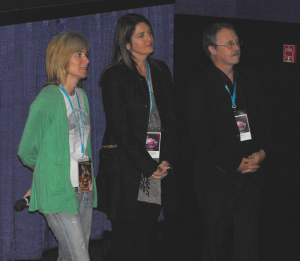 Sylvia Caminer, Melanie Lentz-Janey, and David Dean in the Q & A Session