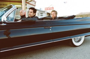 Train - Pat Monahan (driver), Jimmy Stafford (front passenger), and Scott Underwood (back passenger)