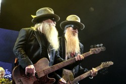 Dusty Hill and Billy Gibbons of ZZ Top In Concert - Nashville, TN Bridgestone Arena