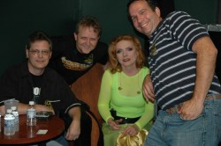 Debbie Harry of Blondie backstage with Brian, Mike, and Tom of Concert Blast - Grand Casino Tunica, MS