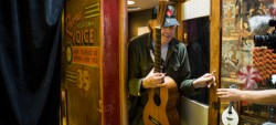 Neil Young Leaving the Recording Booth at Third Man Records