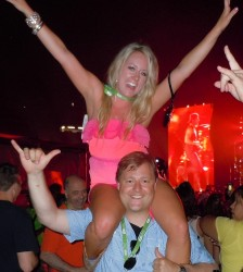 Fans Having a Good Time at the CMA Music Festival 2013