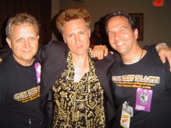 John Waite with Mike Arnold and Tom Thompson of Concert Blast