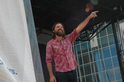 Mac Powell Performing at the Bridgestone Arena Stage - CMA Music Fest 2013