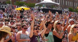 Fans at Riverfront Park Enjoying the CMA Music Festival 2013