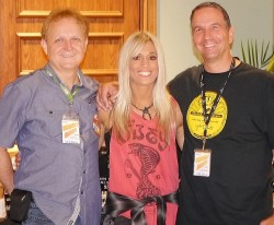 Laura Wilde with Mike Arnold and Tom Thompson of Concert Blast