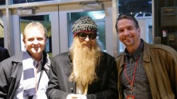 Mike Arnold and Tom Thompson with Billy Gibbons of ZZ Top